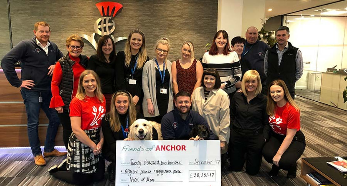 Local firm Nicol of Skene raises over £20,000 for Friends of ANCHOR